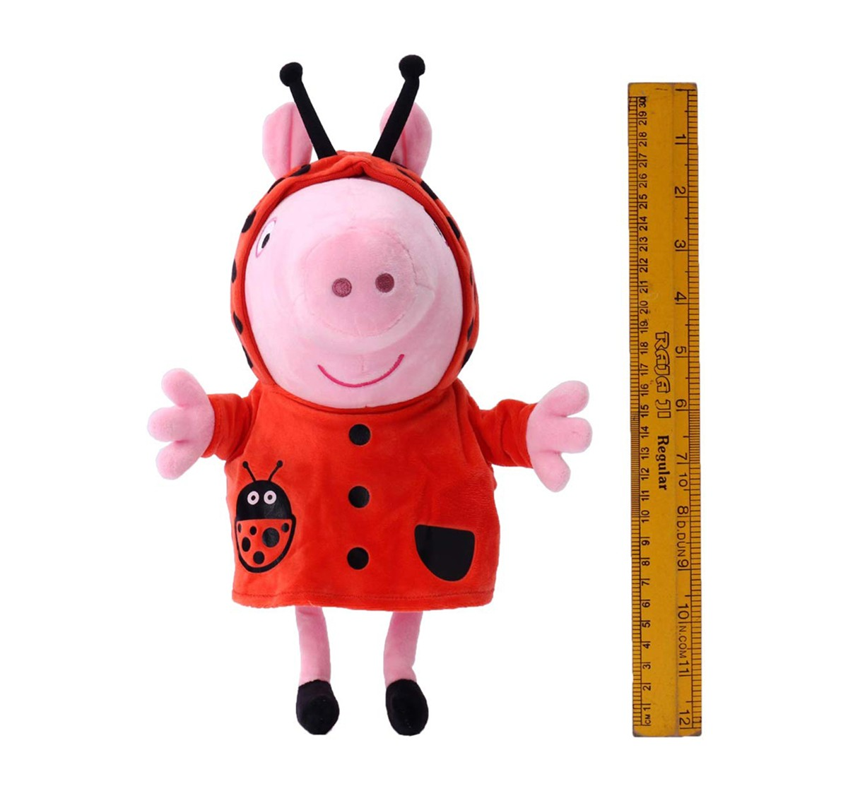 Peppa Pig In Ladybird Costume Soft Toy for Girls age 1Y+ - 30 Cm