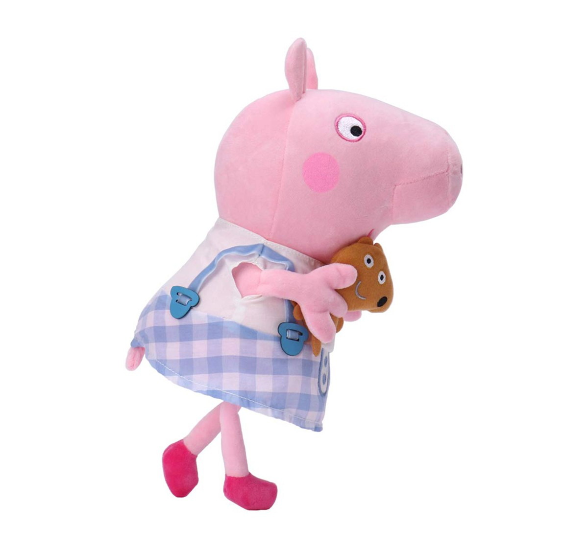 Peppa Pig In Plaid Skirt Soft Toy for Girls age 1Y+ - 30 Cm