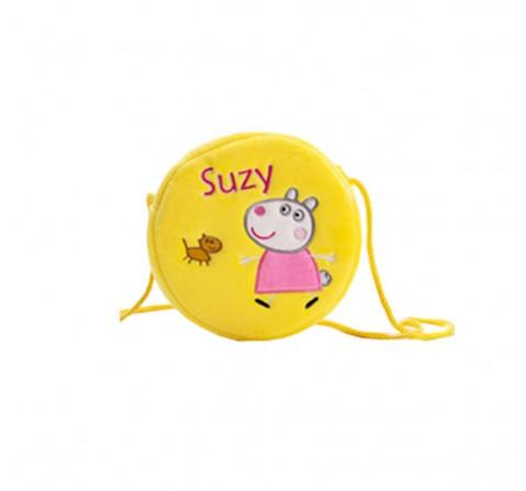 Peppa Pig Suzy Sheep Round Sling Bag Plush Accessory for Girls age 3Y+ - 16 Cm (Yellow)