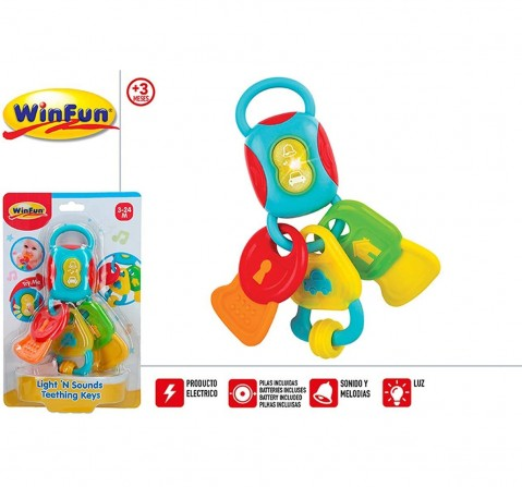 Winfun - Light & Sounds Teething Keys New Born for Kids age 3M+