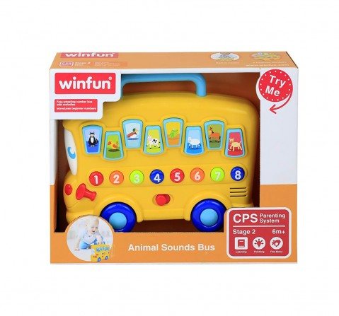 Winfun - Animal Sounds Bus Learning Toys for Kids age 6M+