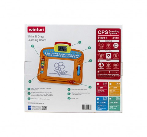 Winfun - Write Draw Learning Board Toys for Kids age 2Y+