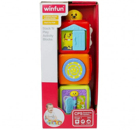Winfun - Stack Play Activity Block  Toys for Kids age 3M+