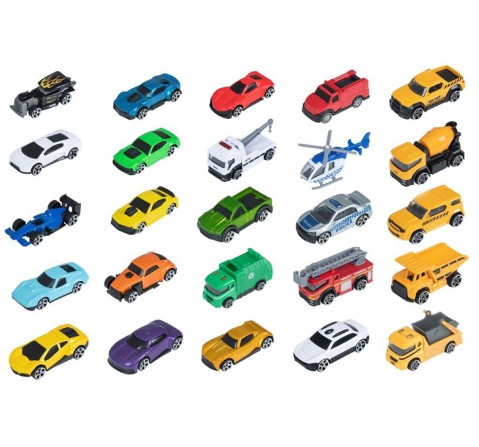 """Ralleyz 3"""" Die Cast Car 25 Pack Assorted Vehicles Vehicles for Kids age 3Y+"""