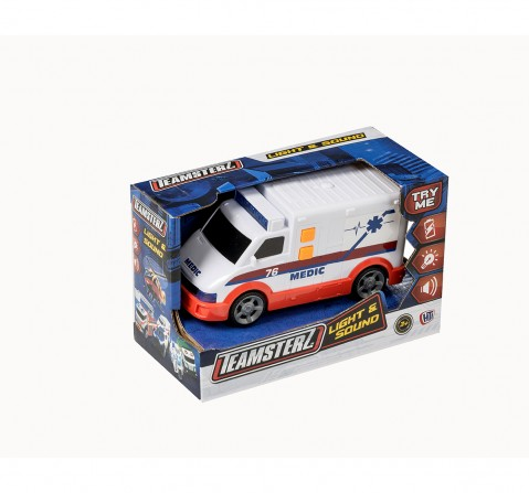 Ralleyz Light And Sound Ambulance Small Vehicles for Kids age 3Y+
