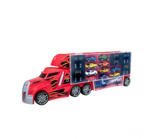 Ralleyz Car Transporter - 10 Cars Vehicles for Kids age 3Y+