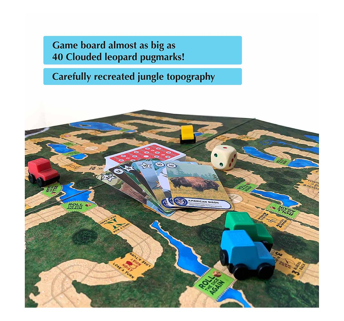Kaadoo Mighty Himalayas & N.America-2 In 1 Adventure Safari Board Game Combo Games for Kids age 6Y+