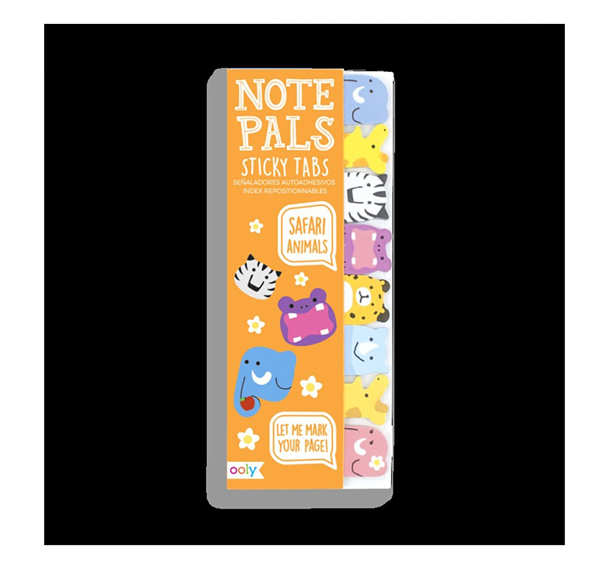 Ooly Note Pals Sticky Tabs - Safari Animals Study & Desk Accessories for Kids age 4Y+