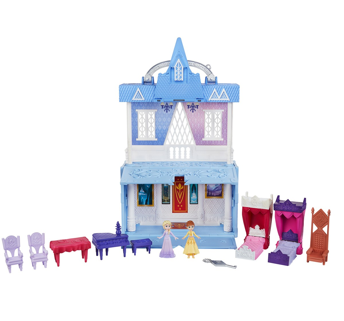 Disney Frozen2 - Arendelle Castle Playset With Handle Dolls & Accessories for Girls age 3Y+