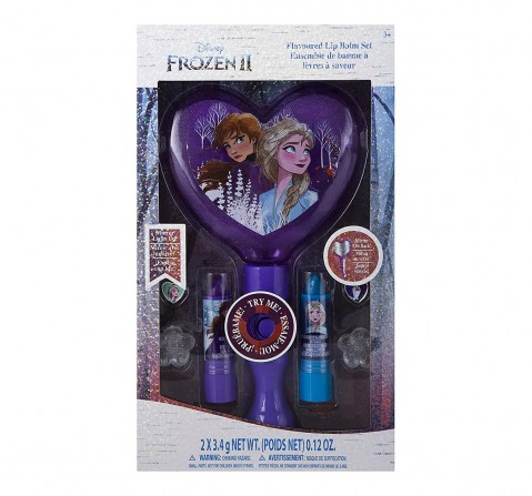 Disney Frozen 2  - 7 Piece Lip Balm Cosmetic Gift Set with Light-Up Mirror Toileteries and Makeup for Kids age 3Y+