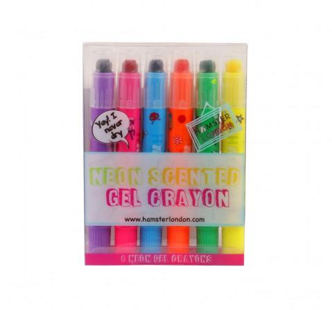 Hamster London Gel Crayons Pack of 6 for Kids age 3Y+