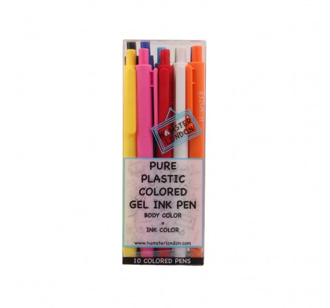 Hamster London Gel Pens Set of 10 for Kids age 3Y+