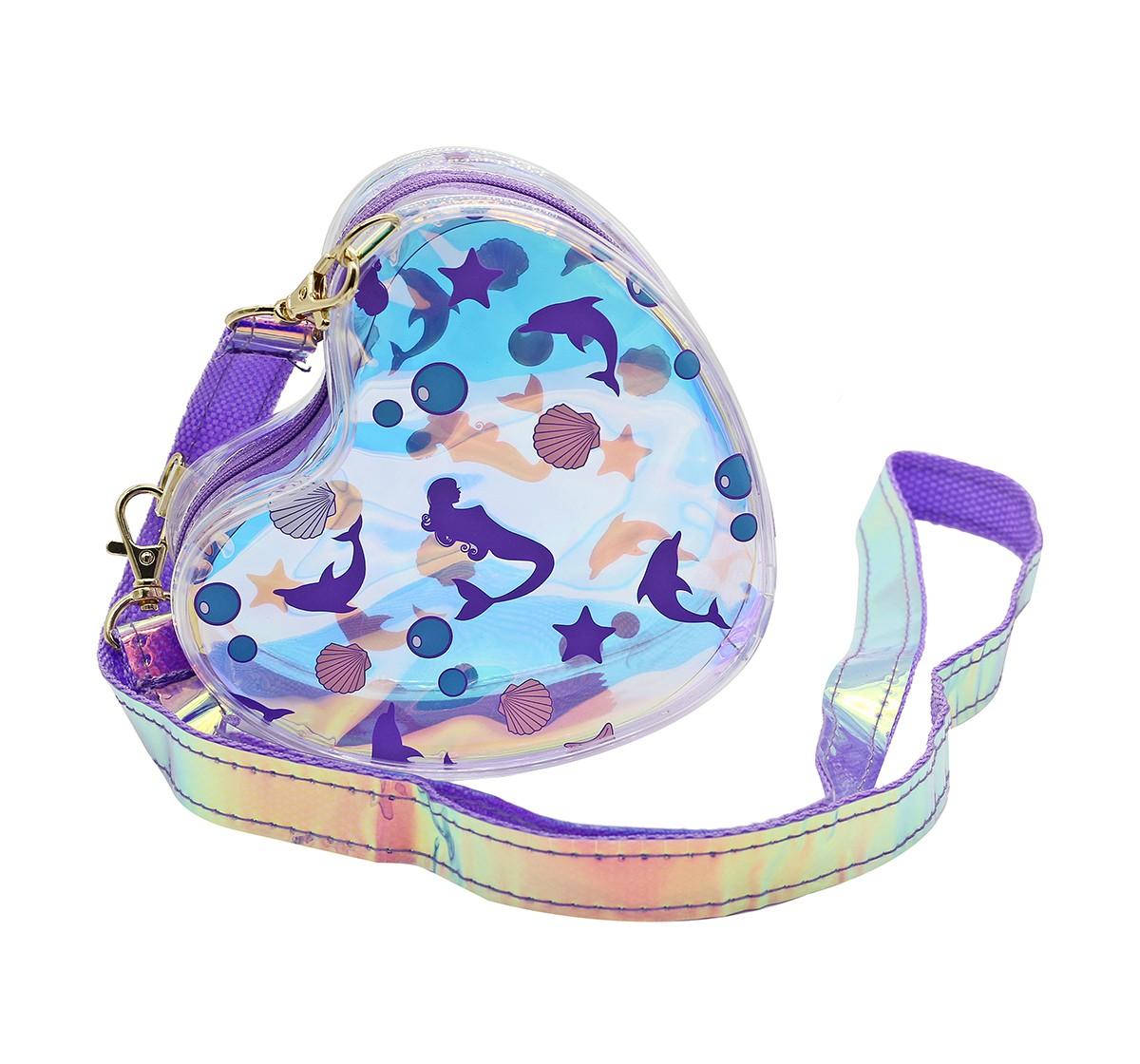 Hamster London Heart Shaped Mermaid Sling Bag for Girls age 3Y+ (Purple)