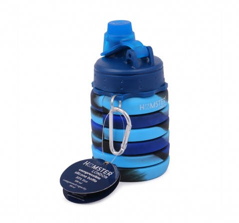 Hamster London Bendable Bottle with Carabiner Clip for Kids age 3Y+ (Blue)