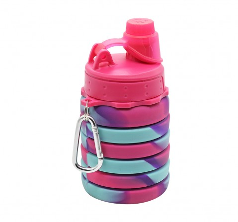 Hamster London Bendable Bottle with Carabiner Clip for Kids age 3Y+ (Pink)