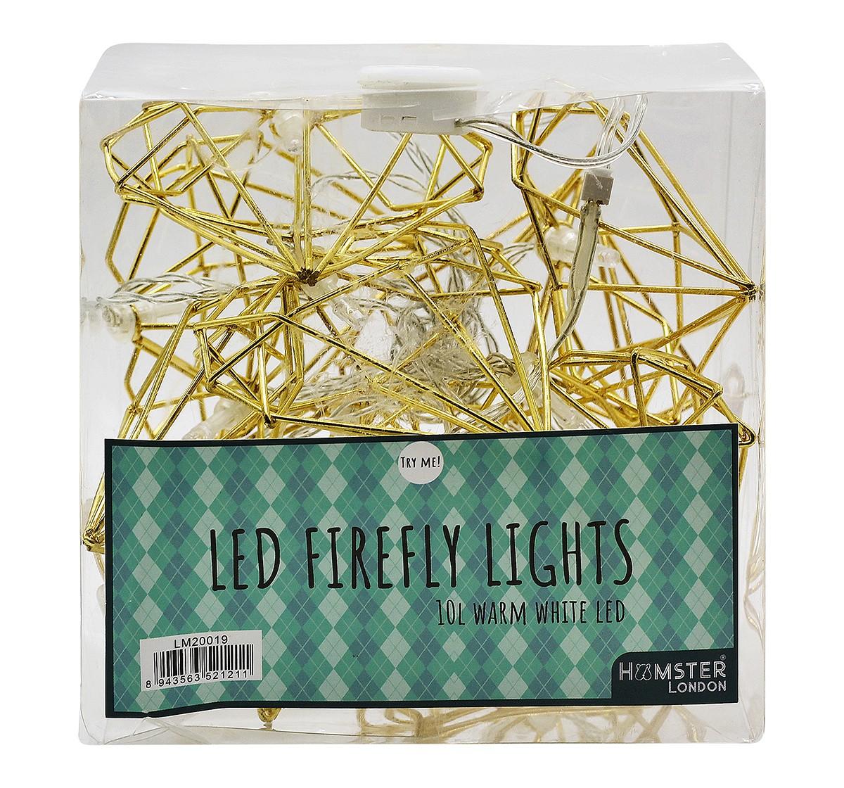 Hamster London Decorative Golden Heart String Light for Kids age 3Y+