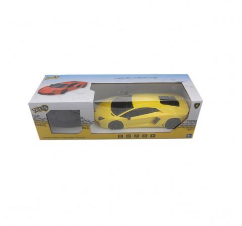 Ralleyz 1:18 27Mhz Lamborghini Remote Control Car Yellow, 6Y+