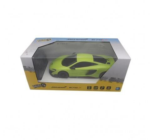 Ralleyz 1:24 27Mhz Mclaren Remote Control Car Green, 6Y+