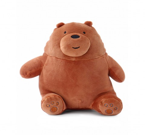 We Bare Bears We Bare Bear Sitting Grizzly Bear Plush 20 Cm Character Soft Toys for Kids age 1Y+ - 20 Cm (Brown)