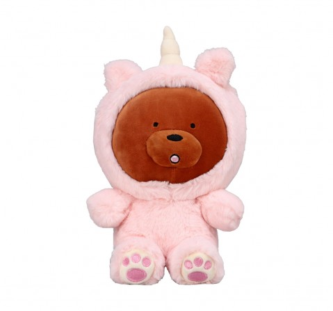 We Bare Bears We Bare Bear Grizzly Bear With Unicorn Onesie Plush 25 Cm Character Soft Toys for Kids age 1Y+ - 25 Cm