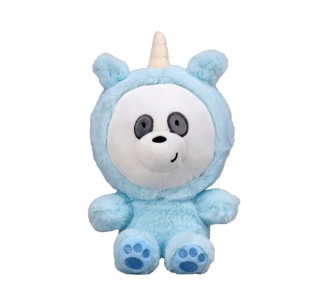 We Bare Bears We Bare Bear Panda Bear With Unicorn Onesie Plush 25 Cm Character Soft Toys for Kids age 1Y+ - 25 Cm