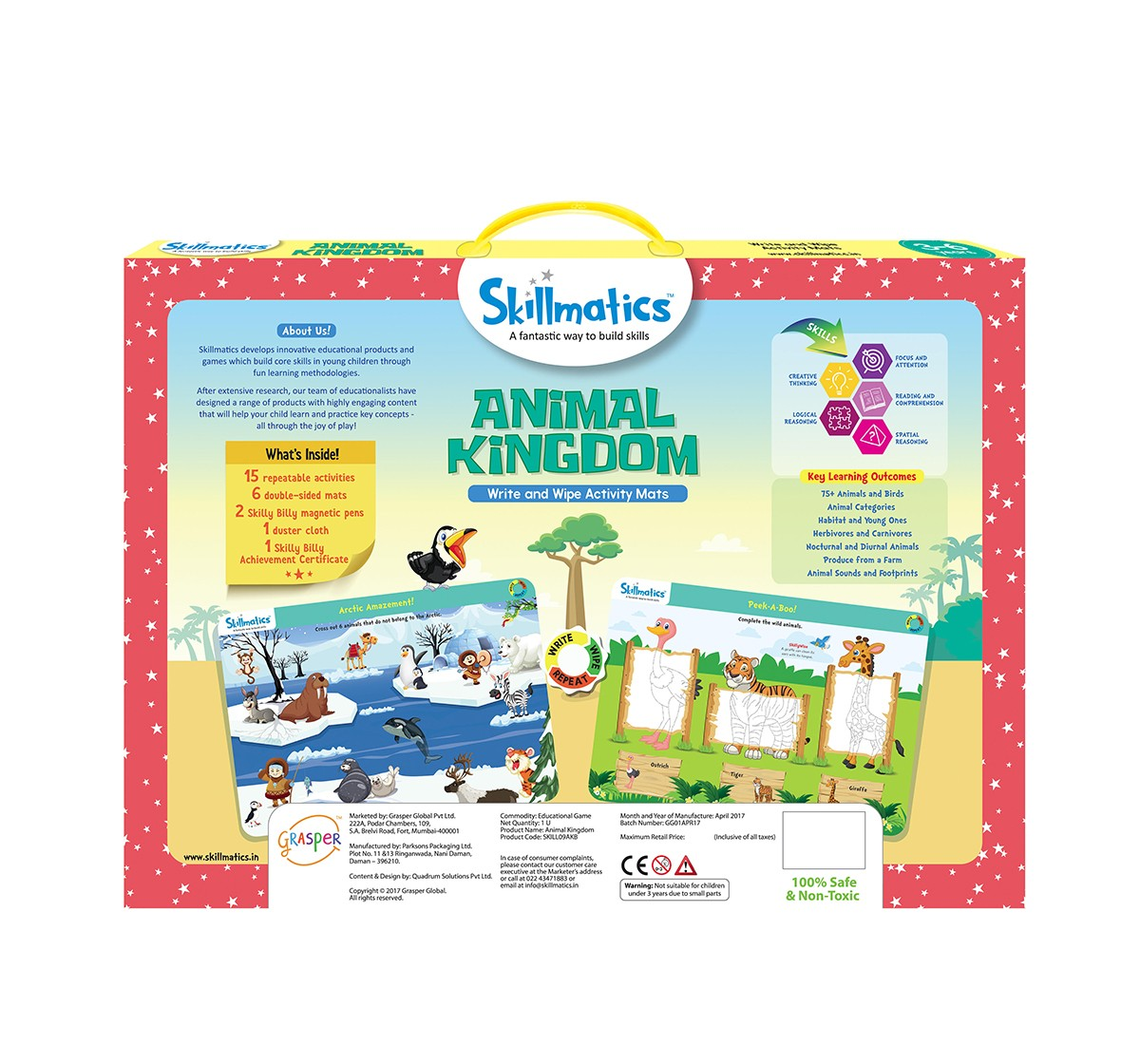 Skillmatics Animal Kingdom Games for Kids age 3Y+
