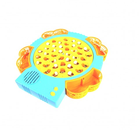 Youreka Rotating Musical Bee Catcher Game - 42 Bees And 4 Magnectic Rods Games for Kids age 3Y+