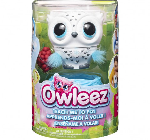 Owleez, Flying Baby Owl Interactive Toy with Lights and Sounds  Collectible Dolls for Kids age 6Y+ (White)