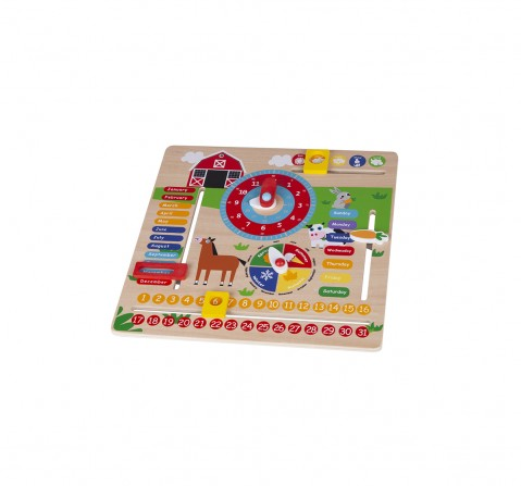Shooting Star Wooden Magnetic Calendar for Kids age 3Y+