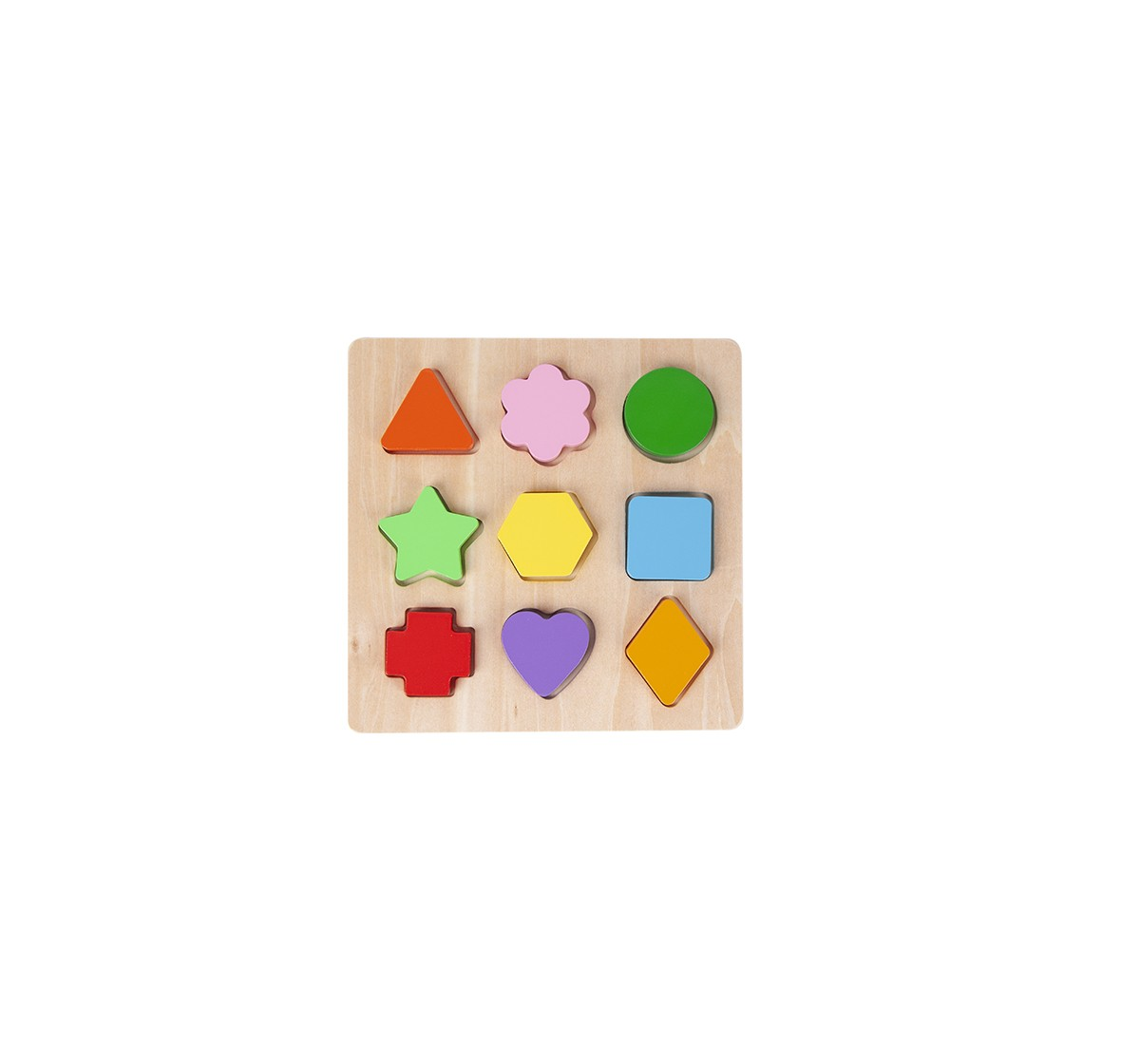 Shooting Star Wooden Geometry 9 Pc Set for Kids age 3Y+