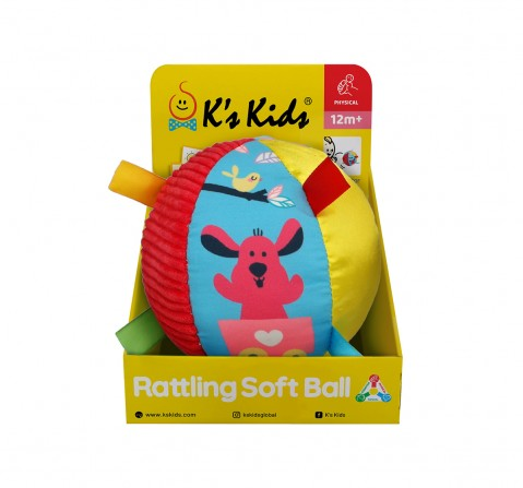 Ks Kids Rattling Soft Ball New Born for Kids age 0M+