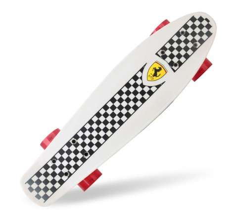 Ferrari Penny Board Skateboard - Skates and Skateboards for Kids age 5Y+ (White)