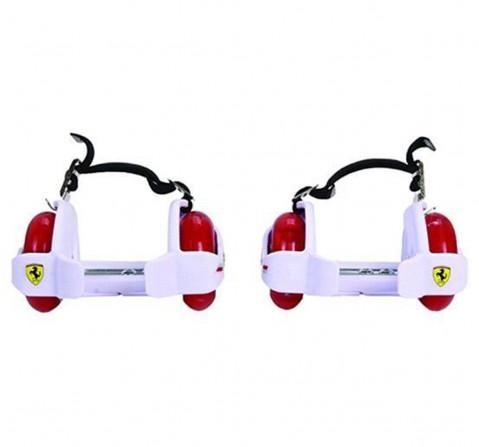 Ferrari Flashing Wheels Roller Skates White, Unisex, 5Y+ (White)