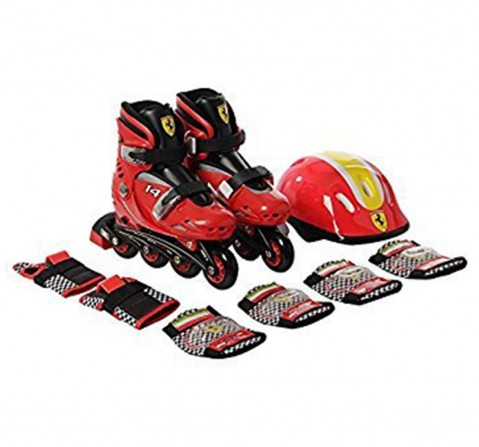 Ferrari Hard Boots Inline Skate Combo Set Red Small, Unisex, 3Y+