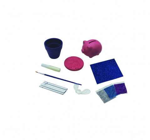Youreka Cool Glitter Ceramic Tub DIY Art & Craft Kits for Girls age 3Y+
