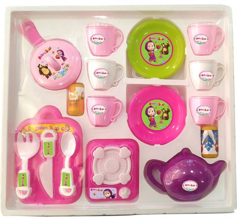 Masha & the Bear Tea Party Set  Role Play Set Kitchen Set For Kids, 3Y+