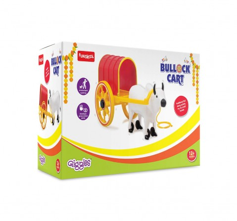 Funskool Bullock Cart Activity Toys for Kids age 12M+