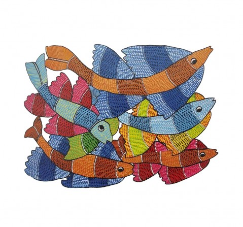Frogg  Gond 63Pc Puzzle for Kids age 7Y+ (Blue)