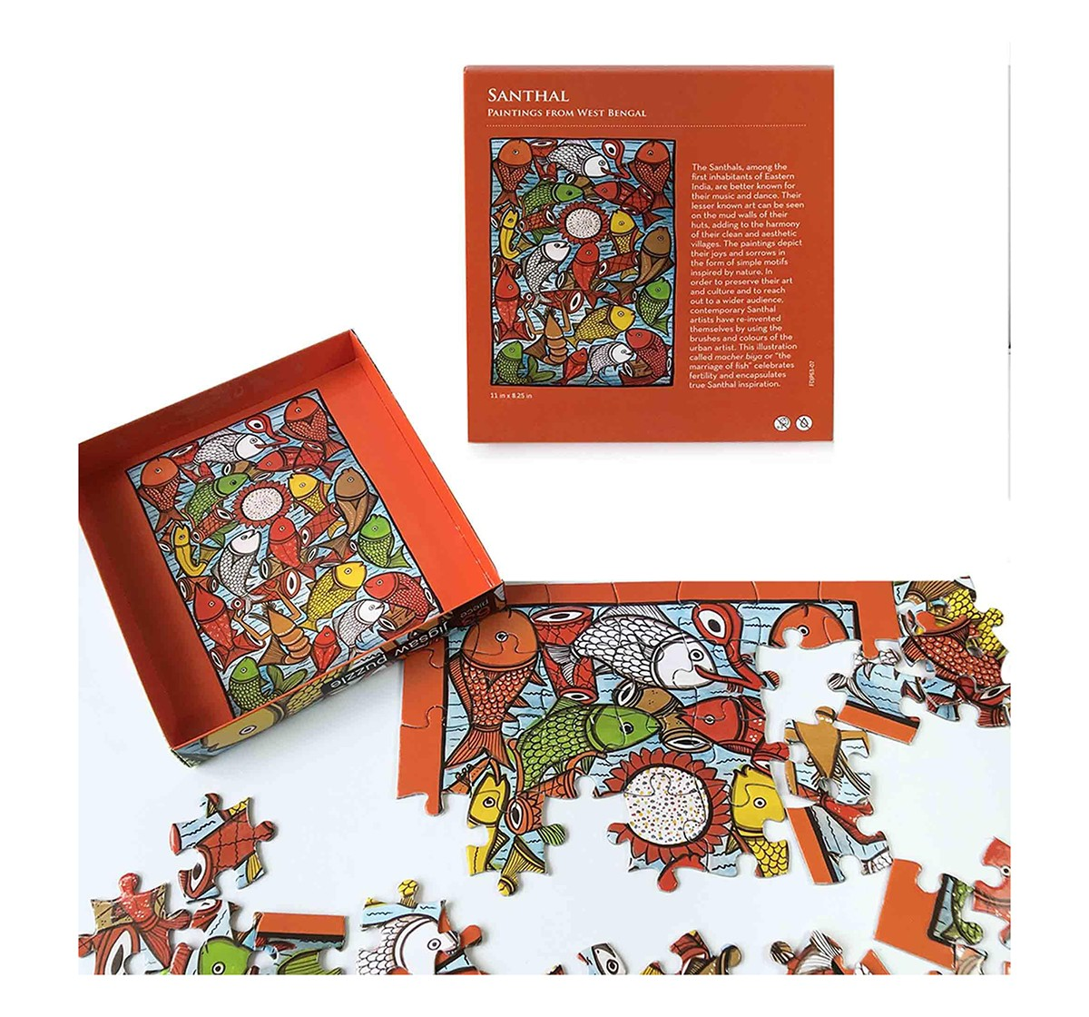 Frogg Santhal  63Pc Puzzles for Kids age 7Y+ (Red)