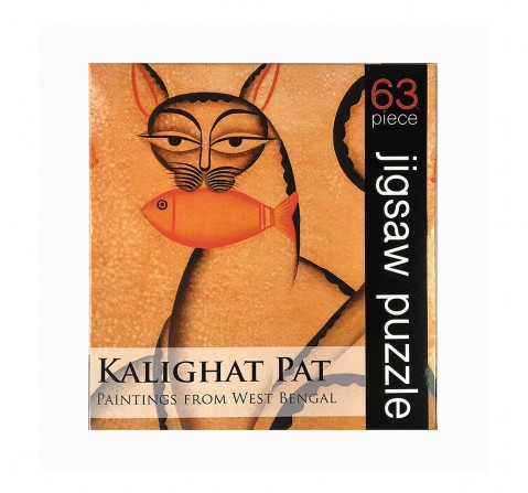 Frogg Kalighat Pat  63Pc Puzzles for Kids age 7Y+ (Mustard)
