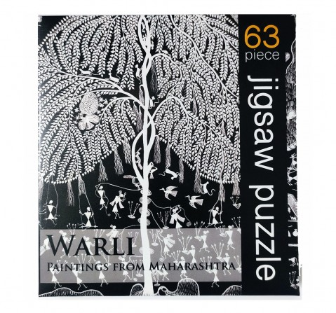 Frogg Warli   63Pc Puzzles for Kids age 7Y+ (Black)