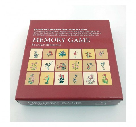 Frogg Memory Game Mughal Flowers Games for Kids age 5Y+ (Brown)