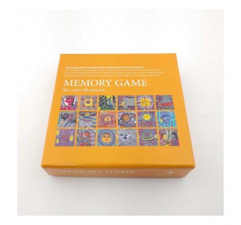 Frogg Memory Game Madhubani Games for Kids age 5Y+ (Mustard)