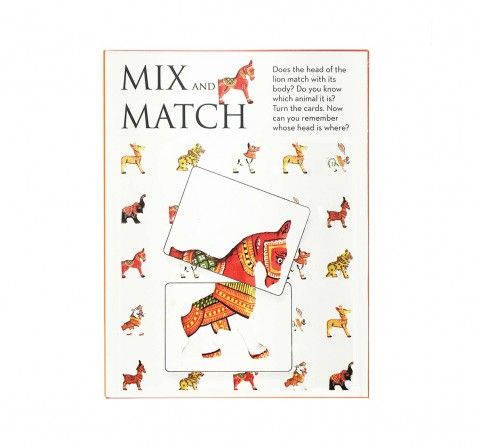 Frogg Mixmatch Patachitra Animals Games for Kids age 3Y+ (Red)