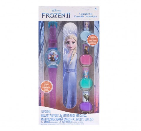 Melissa & Doug  Disney Frozen 2 - 4Pk Nail Polish With Lip Gloss Watch  Toileteries and Makeup for Kids age 3Y+
