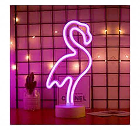 On Time Neon Lights Flamingo Room Furnishing for Kids age 5Y+