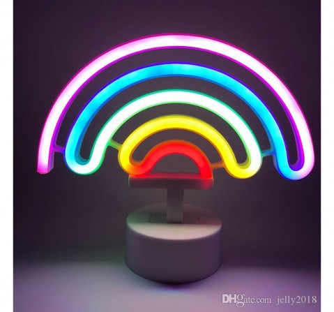 On Time Neon Lights Rainbow  Room Furnishing for Kids age 5Y+