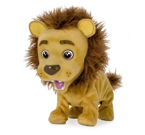 Imc Kokum The Little Lion Interactive Soft Toys for Kids age 3Y+ - 16 Cm (Brown)