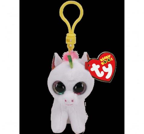 Ty Toys Pixy - White Unicorn Clip Plush Accessories for Kids Age 3Y+ - 8.5 Cm