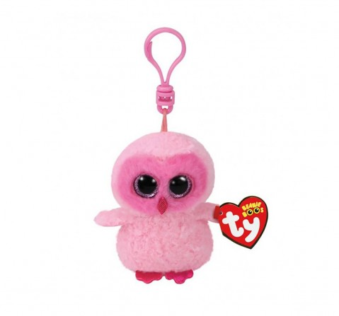 Ty Twiggy - Pink Owl Clip Plush Accessories for Kids age 3Y+ - 8.5 Cm